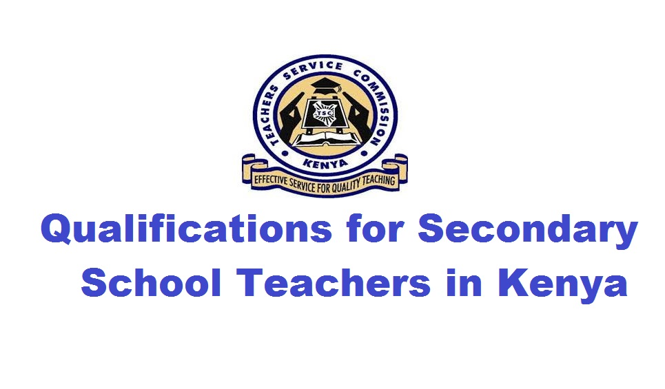 Qualifications for secondary school teacher
