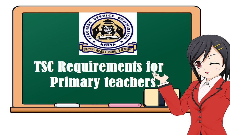 TSC requirements for primary teachers