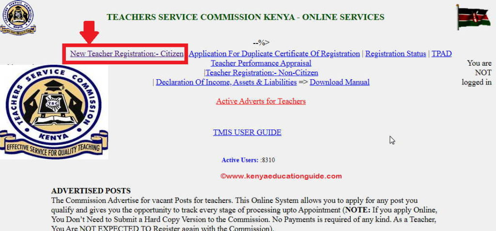 tsc registration requirements pdf