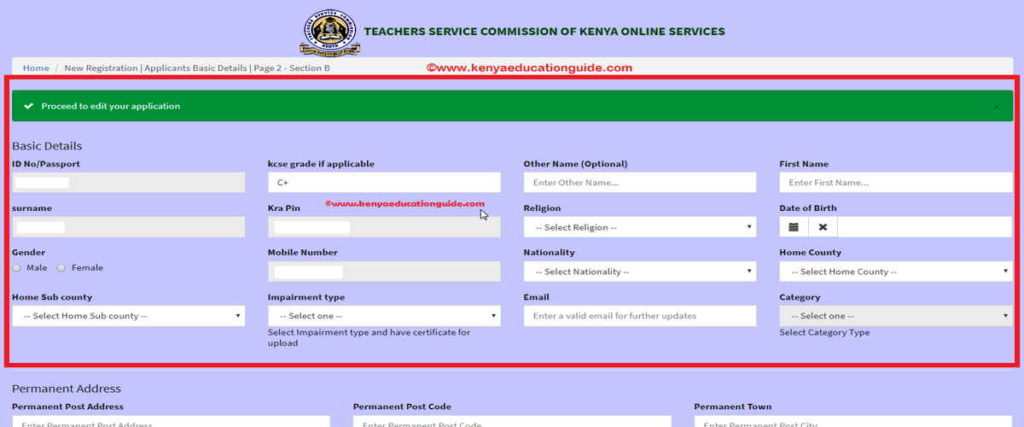 tsc requirements for secondary teachers