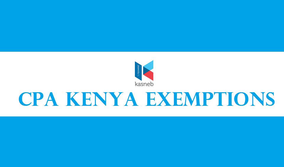 cpa kenya exemptions