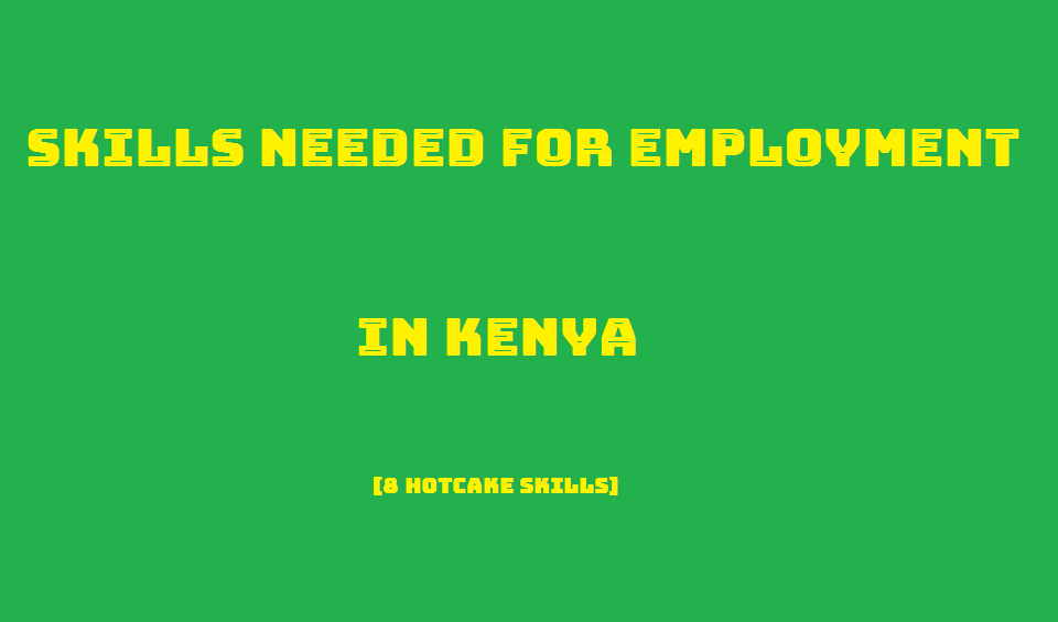 Skills needed for employment in Kenya