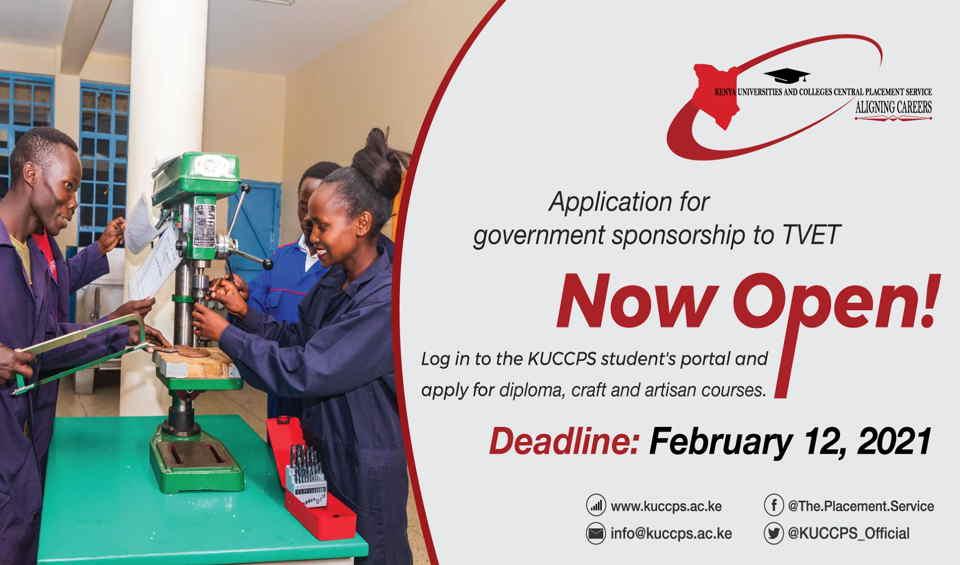 KUCCPS latest news on Admission