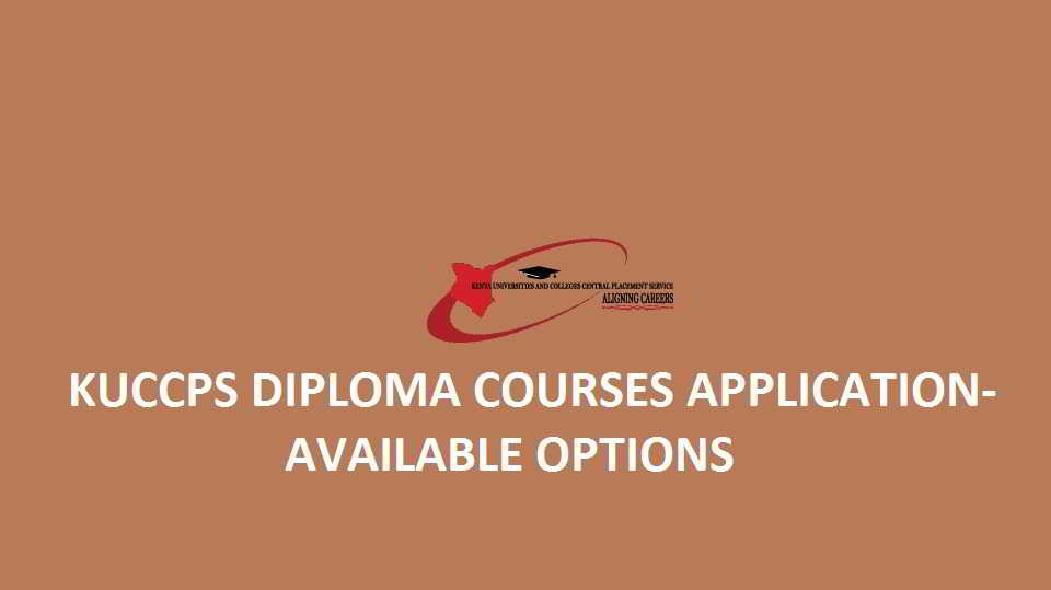 KUCCPS diploma courses applications